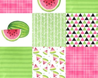 Watermelon Baby Blanket. Girl Summer Blanket. Watermelon Baby. Summer Blanket. Cheater Quilt. One in a Melon. One in a Million. Summer Time