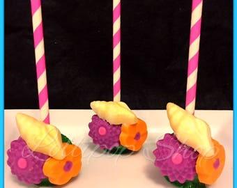 12 Moana cake pops (Birthday, Moana party favors, Hawaiian luau party favors, Maui)