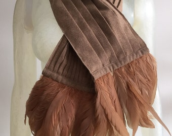 Stella Cadente, wool and feather scarf