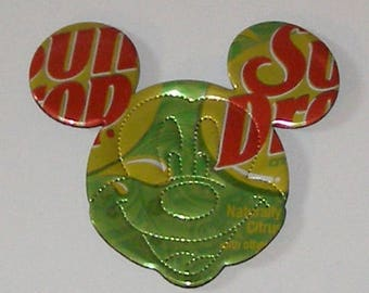 MICKEY/Minnie MOUSE Magnet  - Sun Drop Lemon Lime Citrus - Perforated Face