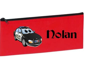 Red car font personalized with name package