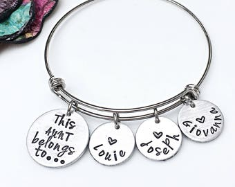 Aunt Gift, Gifts for Aunts, Bracelet for Aunt, Personalized Aunt Jewelry, Christmas Gift for Aunt, Aunt Jewelry, Hand Stamped Aunt Gift