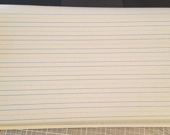 10 sheets of Cursive Writing Paper (off white)