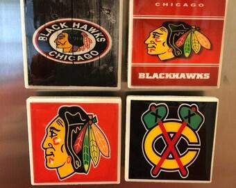 Chicago Blackhawks kitchen magnets