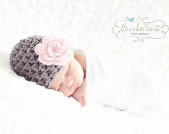 Baby Girl Hat / Crochet Baby Hat / Baby Girl Beanie / Newborn Girl Hat / Baby Shower Gift Girl / Crochet Newborn Hat / Infant Girl Hat