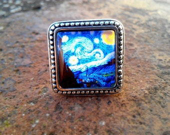 """Ring based in """"the evening star"""" of Vincent van Gogh"""