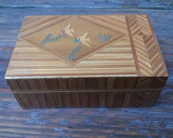 small vintage bamboo box