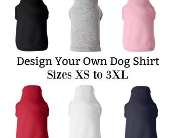 Custom Dog T-Shirt, Custom Dog Clothes,Personalized Dog Shirt,Dog Clothes,Dog Shirt,Dog Lover,Custom T-Shirt,XS to Large,Casual Dog Apparel