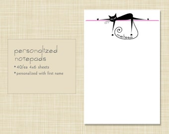 Personalized Notepad - Lazy Kitty Cat
