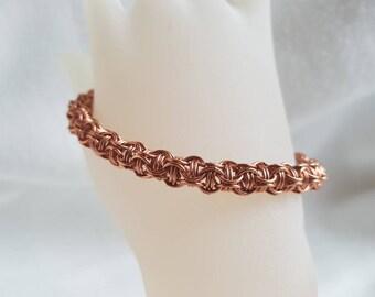 Woman's Bracelet; chainmail bracelet; copper bracelet