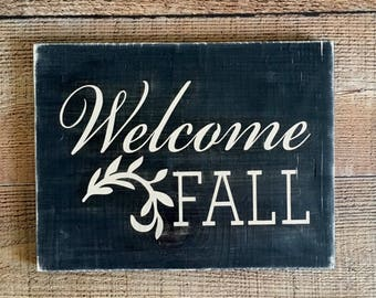 Welcome Fall Home Decor Sign