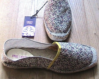 Pare Gabia French Woman Espadrilles Sandals - Liberty of London Print - HANDCRAFTED IN FRANCE - New in Box - 10