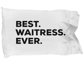 Waitress Pillow Case, Gifts For Waitress, Best Waitress Ever, Waitress Pillowcase, Christmas Present, Waitress Gift
