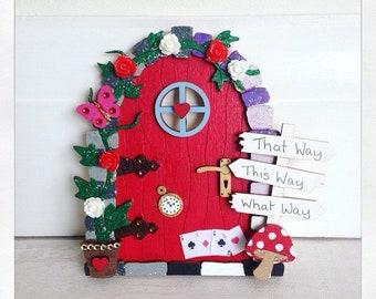 Magical Fairy Door, Alice In Wonderland Themed, Magic Door, Fairies, Mystical, Red Fairy Door