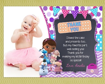 Doc McStuffins Birthday Thank You Cards , Doc McStuffins Thank Yous , Doc McStuffins Thank You Notes