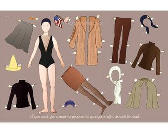 The Edie Beale paper doll print in various sizes