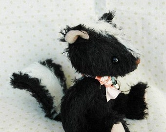 OOAK artist bear Stinky le skunk e-pattern by Jenny Lee of jennylovesbenny bears PDF