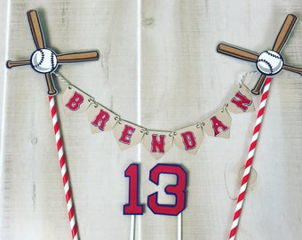 Baseball cake topper bunting banner birthday party decoration
