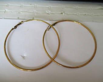 large hoop antique gold metal 80mm