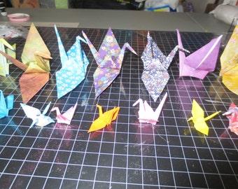 100 Origami Paper cranes Random Set
