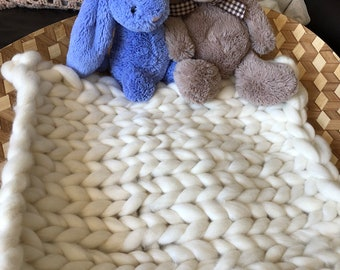 Shetland Wool Baby Blanket Photography Prop