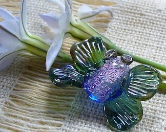 Perles de Murano perles/sra Murano papillon/papillon/dichroïque/rose/focale / /