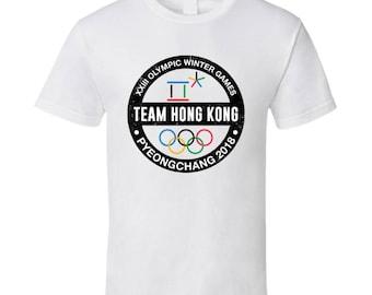 Team Hong Kong Pyeongchang 2018 Winter Olympic Games Country Fan T Shirt