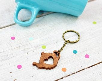Teapot Keychain, Tea Keyring, Housewarming Present