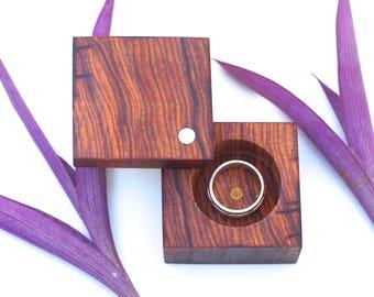 Cocobolo Engagement & Wedding Ring Box | Heirloom Ring Box | | Wood Ring Box | Anniversary Gift | Modern Ring Box
