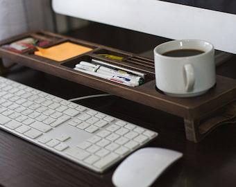 Old Wood Desk Organizer, Desk Accessories, Personalized Office & Home Organized, Accessories Starage, Desktop Organized, Unique Gift for ALL