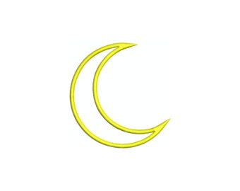 Moon machine applique embroidery design.  Comes in multiple sizes.  INSTANT DOWNLOAD