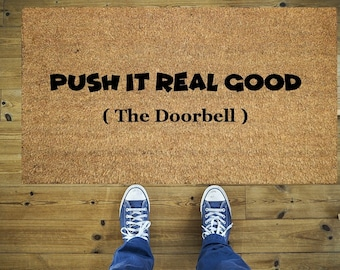Push it real good doormat, Funny doormat, Coco doormat, Coir doormat, Funny push it doormat, Welcome doormat, Door mat