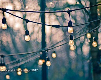 Hanging lights, abstract photography, vintage