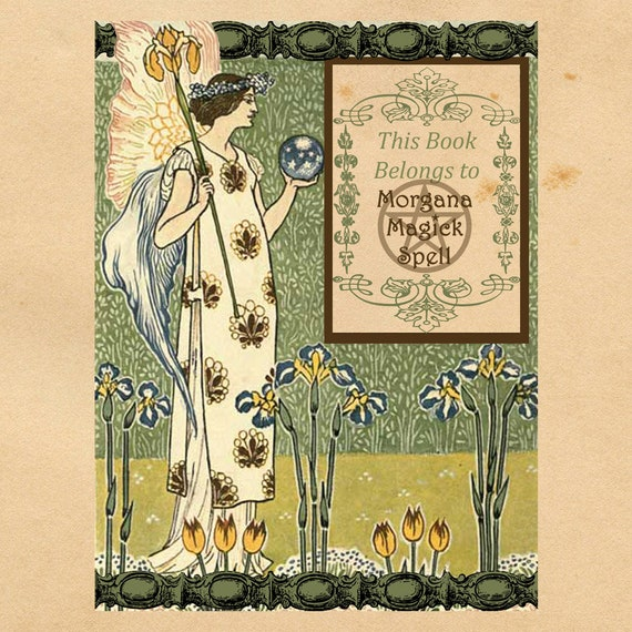 Faerie Book Plates - Printable Book Labels
