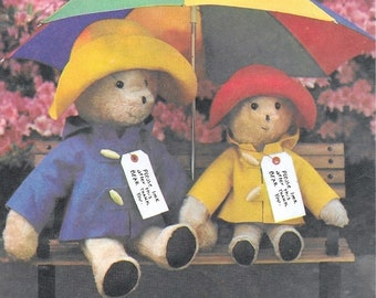 "A Sewing Pattern to Create 2 Sizes of Paddington™ Bear and Clothes: Uncut/Factory-Folded - 13"" Small Bear & 18"" Large Bear • Simplicity 8223"