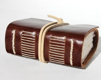 Rustic Leather Journal or Leather Notebook Blank Book - Handmade