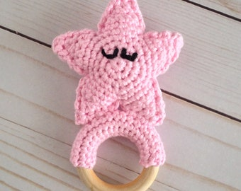 Sandy the Starfish Teething Ring (PATTERN ONLY)