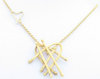 Silver coated with 24K Gold necklace OOAK