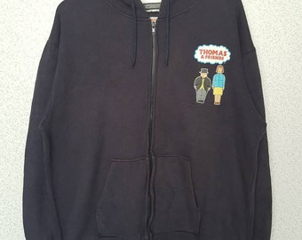 Rare!! Cartoon Thomos & Friends hoodie zipper sweater big logo  sweatshirt