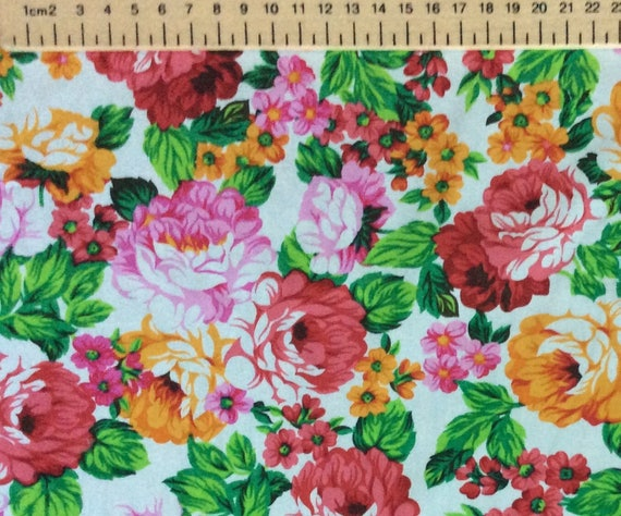 High quality printed poplin, floral print