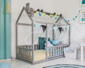 Frame bed Children bed Play tent House bed Toddler bed Floor bed Baby room nursery crib Home bed Pikler baby bed Teepee montessori toy SLATS