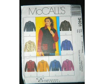McCall's 3401 Jacket Pattern - Express Yourself - Uncut