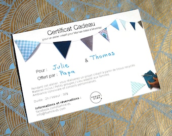 Gift certificate for a creative workshop for MOM-baby in Montreal - 2 hours.