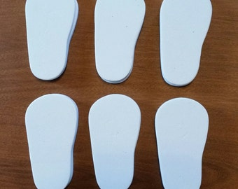 12 Pair 6mm Foam Shoe Soles for 18 inch Dolls