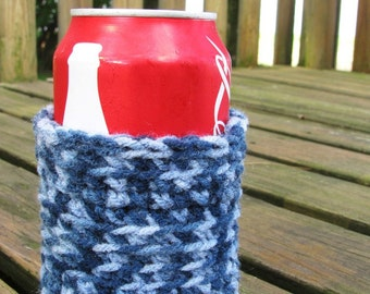 Crocheted Can Cozy- Choose Color