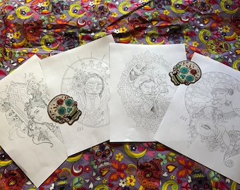 Halloween Set 2017 - 4 coloring pages