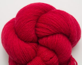 Crimson Rose Cashmere Lace Weight Recycled Yarn, CSH00083