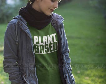 PLANT BASED T-shirt / Vegan T-shirt  Premium Quality! / Fast Delivery to the USA , Canada , Australia & Europe !