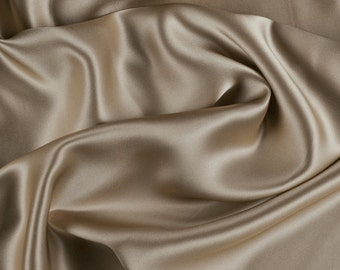 "45"" Wide 100% Silk Charmeuse Bronze By the Yard (1000M178)"