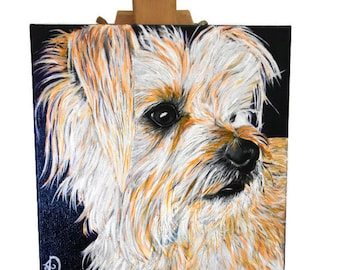 Custom pet painting, custom dog painting, custom dog portrait, custom pet portrait, dog art, custom dog oil painting, Gift for dog owner